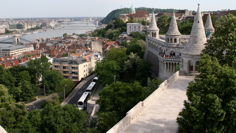 Filming in Budapest with the Danube