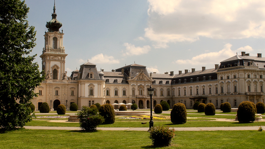 Castle scenery for TV films in Hungary