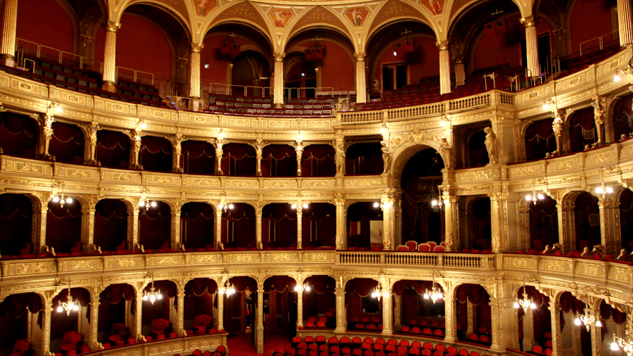 Shooting in theaters of Budapest