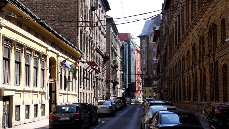Street scenery for video production in Budapest