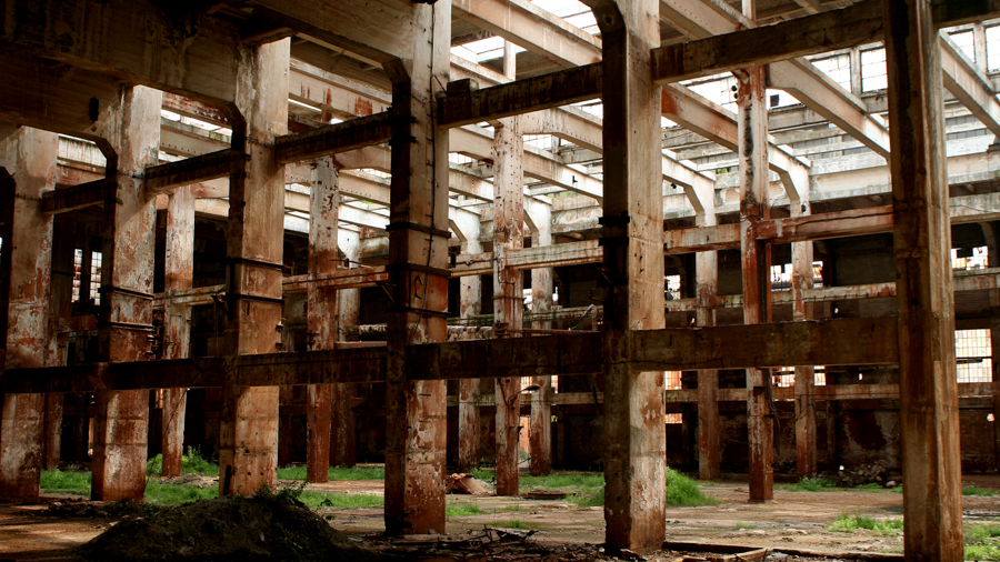 Rusty warehouses for film making in Hungary