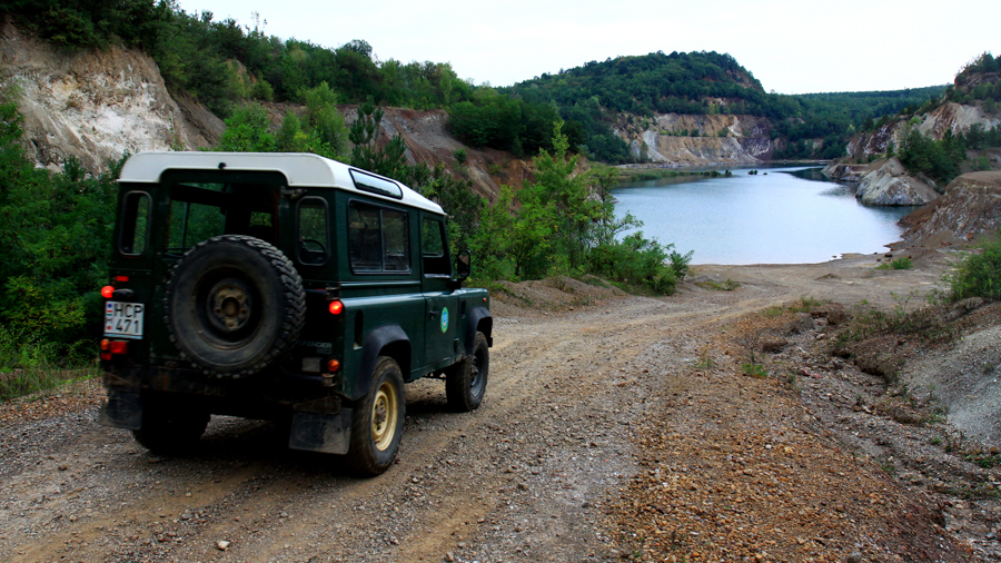 Quarry lake for film production in Hungary