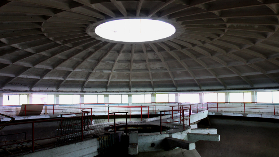 Concrete architecture for filming in Hungary